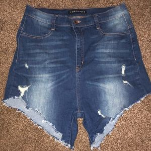 Fashion Nova Cut Off High Waisted Shorts